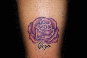 purple rose tattoo ideas