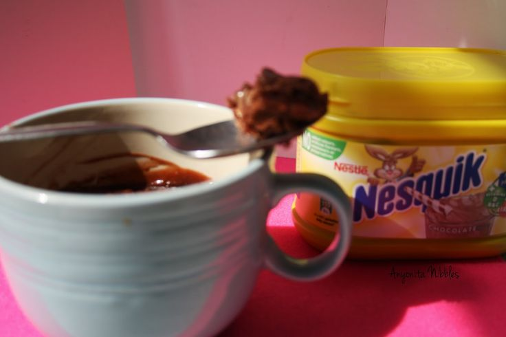 2 Minute Nesquick Microwave Brownies in a mug from Anyonita-Nibbles