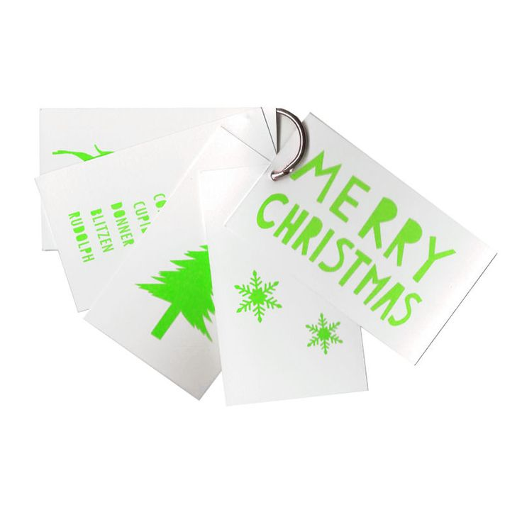 top3 by design - Me and Amber - christmas tags grn on white