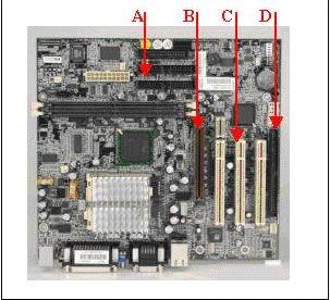 ¿Según la imagem. que figura identifica un slot PCI en la placa madre ATX?