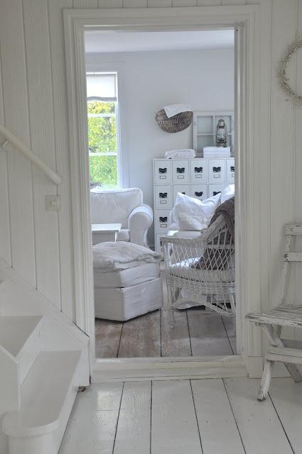 Wide white wood floors - beautiful!