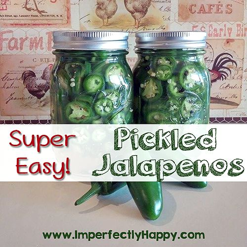 Super Easy Pickled Jalapenos - NO canning required! | by ImperfectlyHappy.com