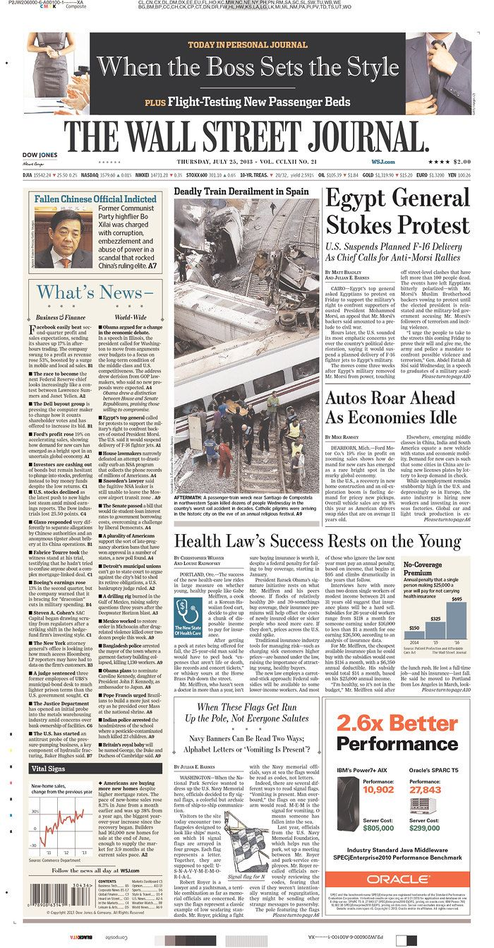 The Wall Street Journal, published in New York, New York USA