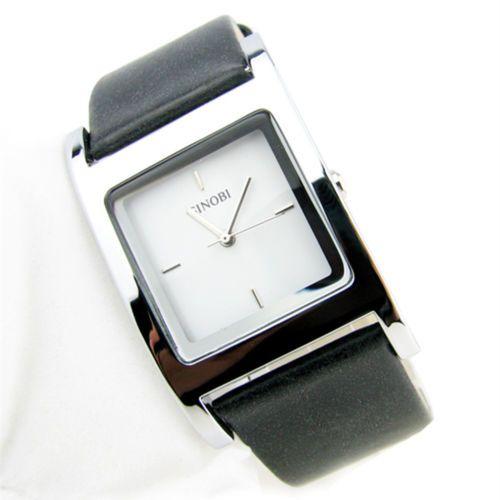 Fashion-Square-Dial-Elegant-Design-Black-Leather-Strap-Women-Quartz-Wrist-Watch