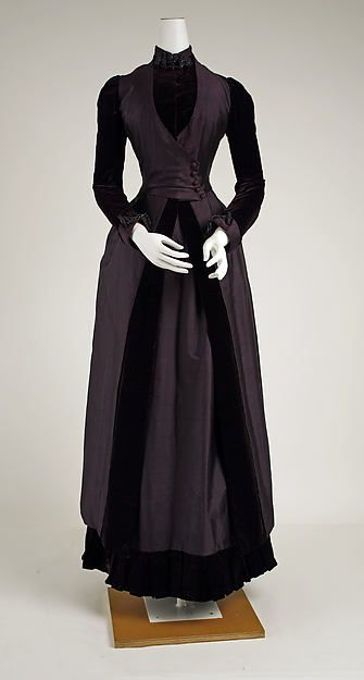 Walking ensemble Date: 1887–88 Culture: American or European Medium: silk, glass