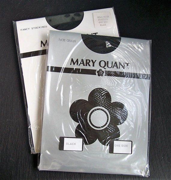 Mary Quant Stockings, Sexy Black Stockings, Vintage Nylon Stockings