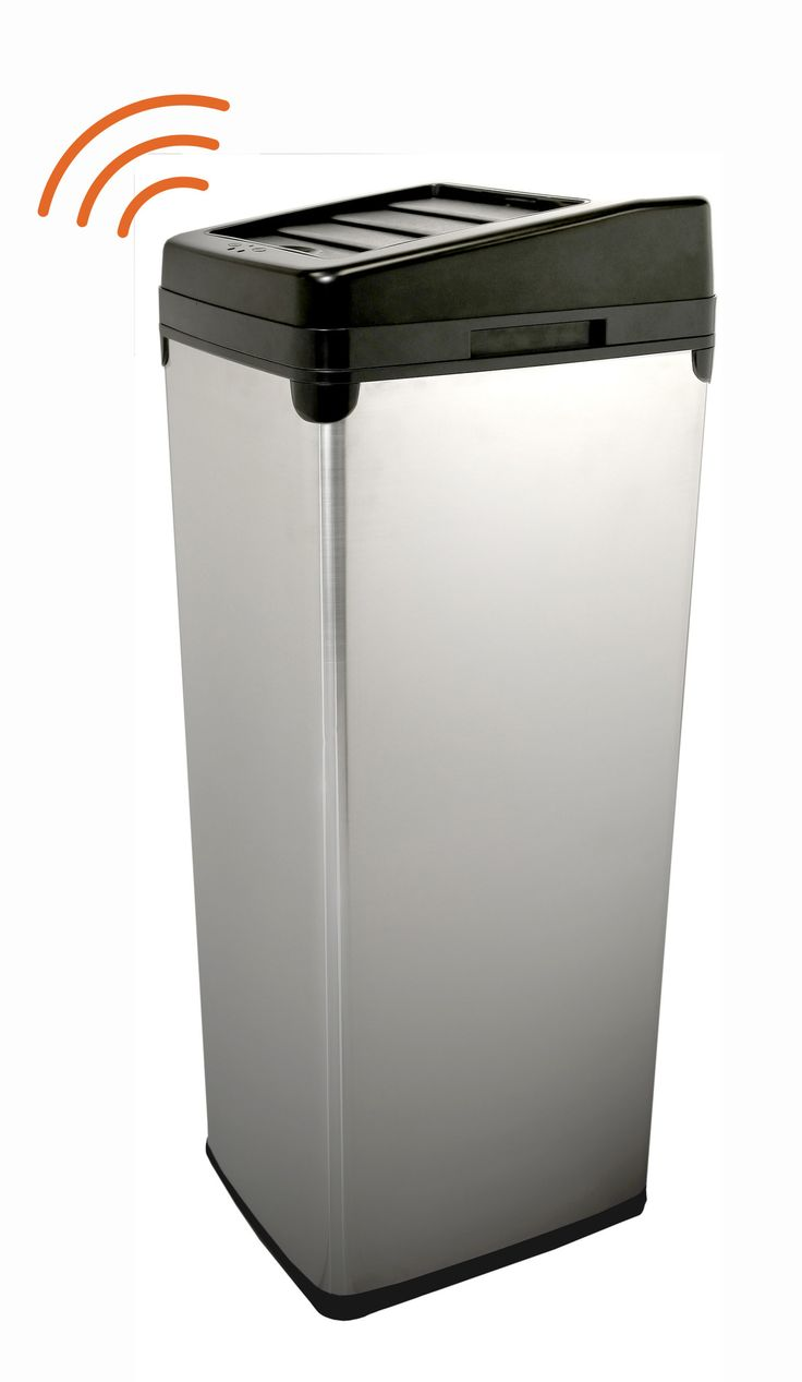 ITouchless 16 Gallon Recycling Containers With Infrared Sensor Lid Openers