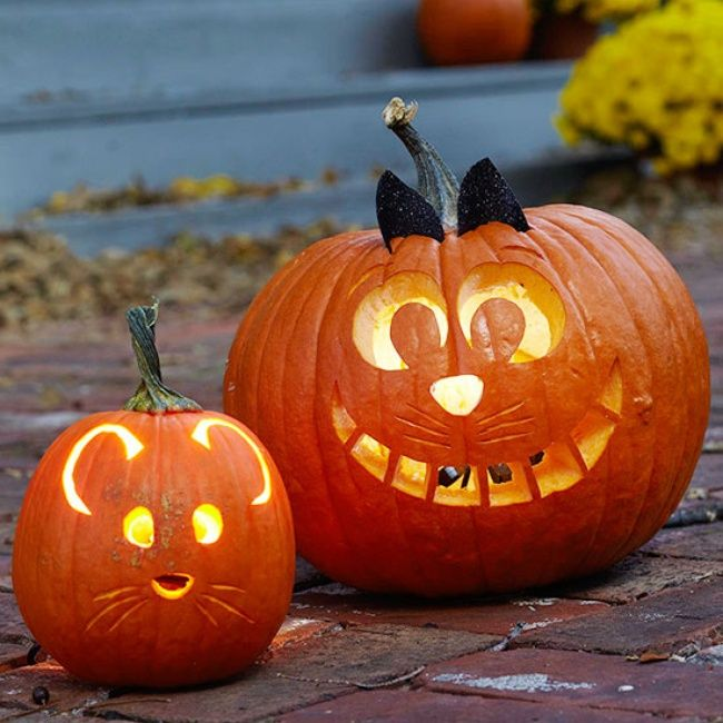 Pumpkin carving ideas small face architectural design