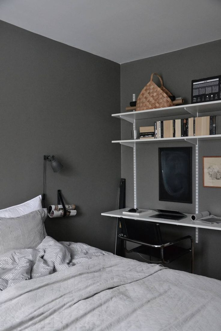 Great workspace in Hanna Ahlin's bedroom, via http://www.scandinavianlovesong.com/