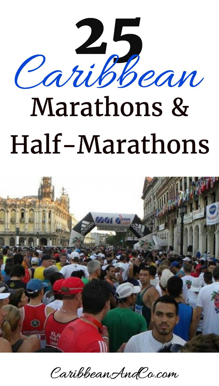 Running is a great way to maintain ones fitness.  However, it can become quite monotonous.   So to maintain your fitness motivation, consider getting a group of friends together and training for and traveling to the Caribbean to take part in one of these 25 Caribbean marathons or half-marathons.