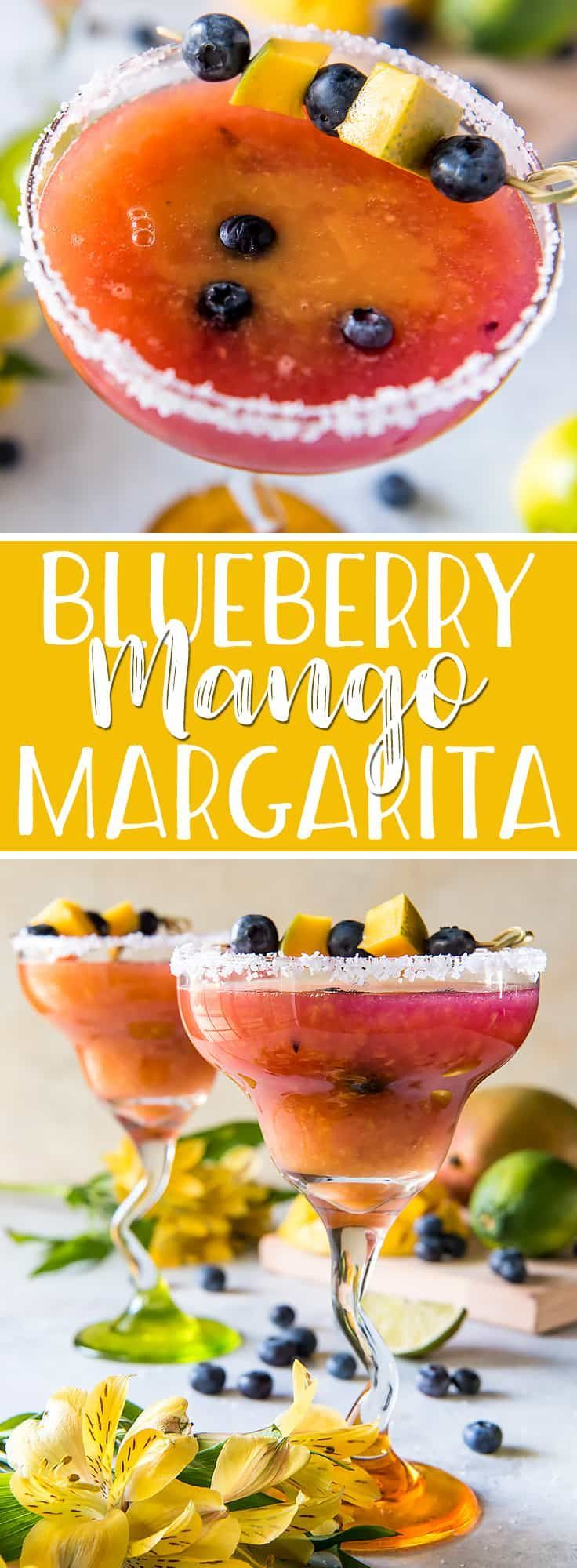 You don't need a special occasion to enjoy the best Blueberry Mango Margarita you've ever had! Muddled blueberries, lime, tequila, and simple syrup come together with an orange-mango puree in a deliciously colorful cocktail you can (and should!) drink all year long.
