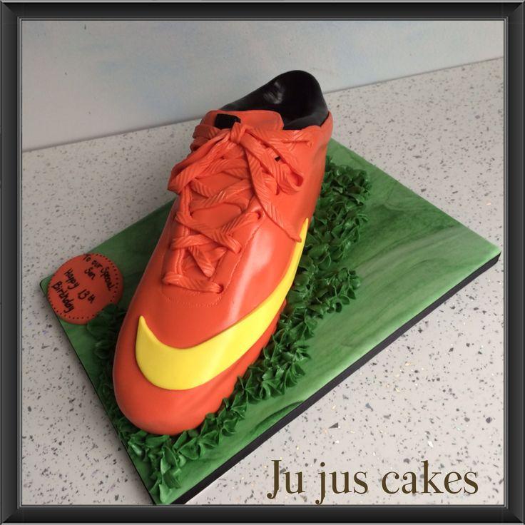 Football Boot Cake Tutorial