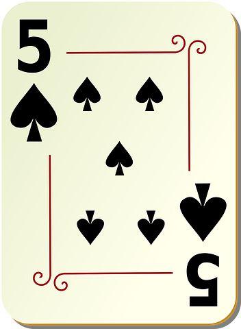 Spades, Five, 5, Poker, Playing