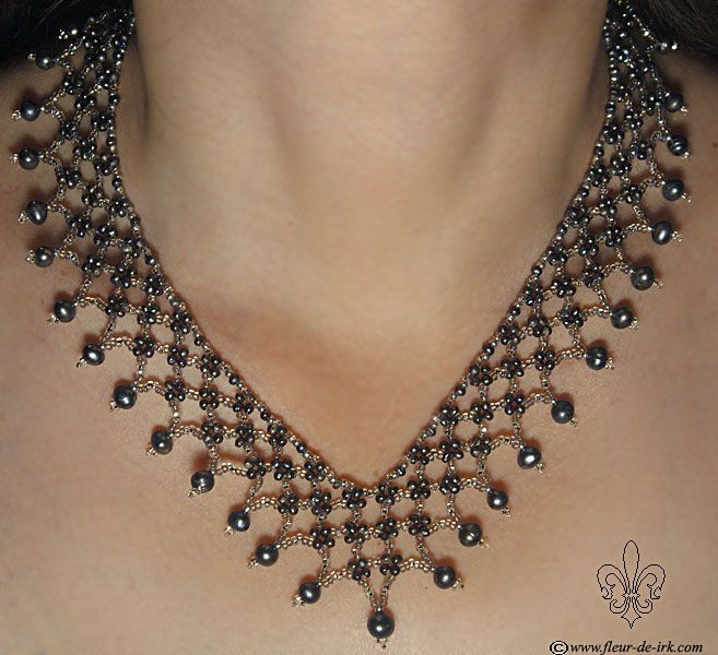 Black pearl lace N451 by Fleur-de-Irk.deviantart.com on @deviantART