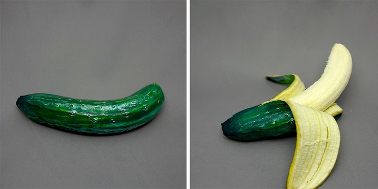 Artist Paints Common Foods to Disguise them as Other Foods  http://www.thisiscolossal.com/2014/03/painted-produce-foods-disguised-as-other-foods-by-hikaru-cho/
