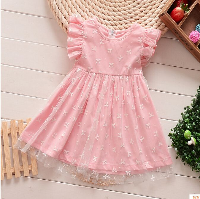 Baby Girl Lace Bows Dress