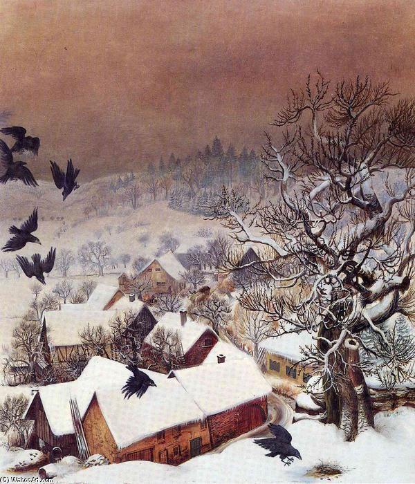 Randegg en la nieve enestado cuervos de Otto Dix (1891-1969, Germany)