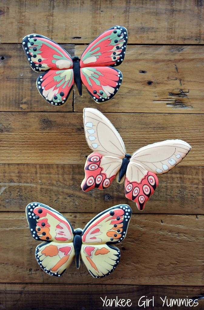 Butterfly cookies. Yankee Girl Yummies