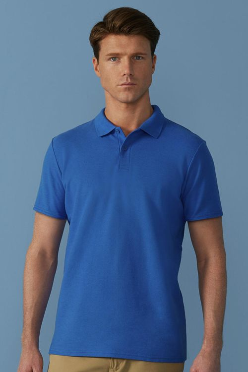 Tricou polo de bărbați Softstyle® Double Pique Gildan din 100% bumbac, ring spun #tricouri #polo #personalizate #gildan #promotionale