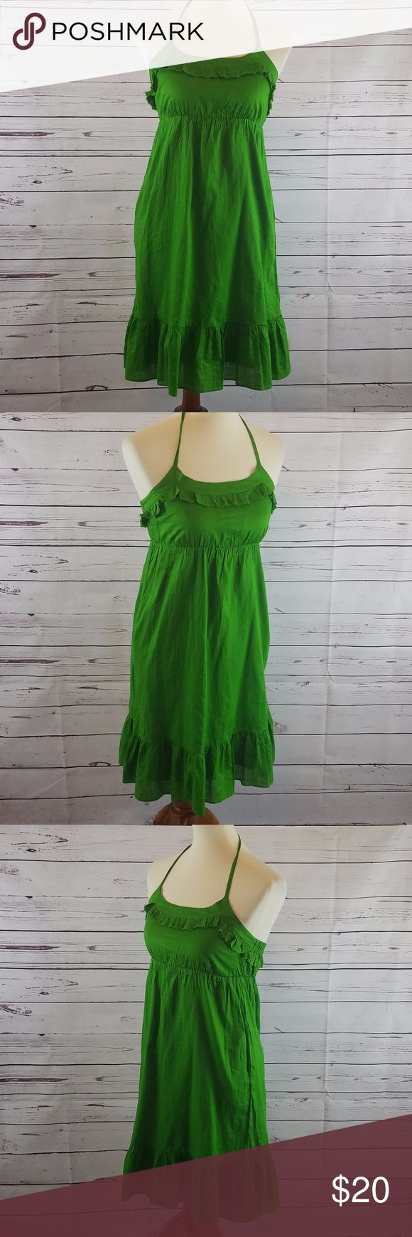 Old Navy Green Halter Casual Sundress Size XS Old Navy Women's 100% Cotton Green Halter Casual Sundress Size XS Old Navy Dresses