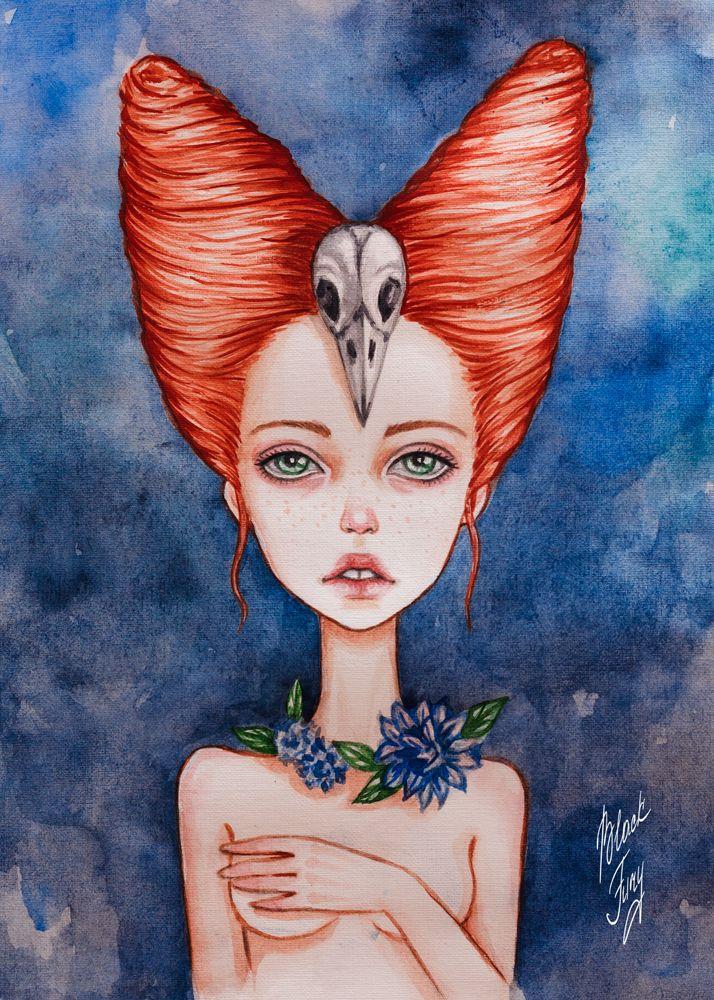 Redhead raven by BlackFurya