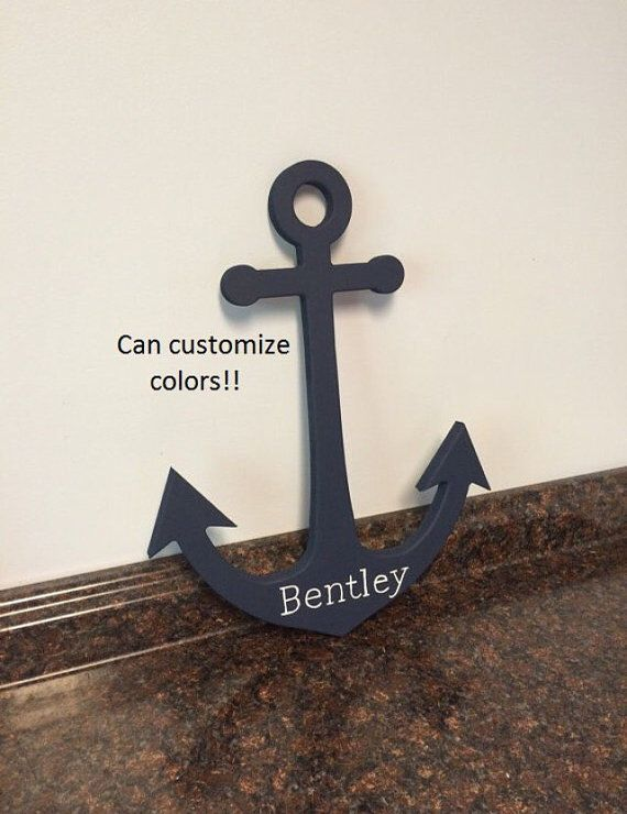 wooden anchor cutout wooden nautical cutouts by JessieAnnCreations
