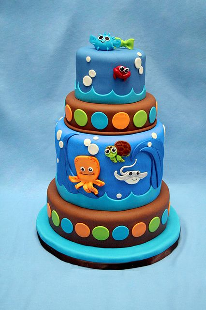 """Use my Cricut Cake & """"Create a Critter"""" & """"Life is a Beach"""" carts to make this ~ Am"""