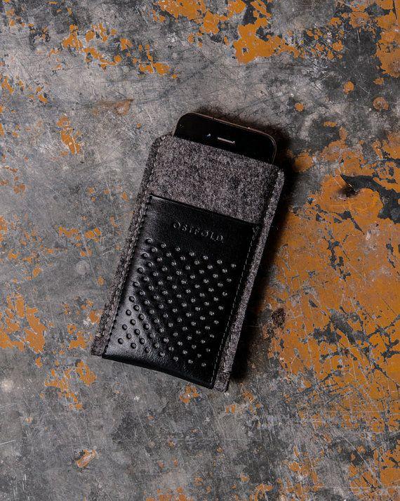 Etui cuir et laine feutrée pour iPhone 5 - 5S - 5C OSTFOLD