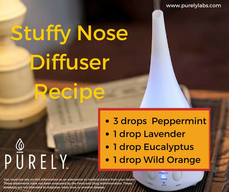Stuffy Nose Diffuser Recipe Purely Essential Oils