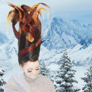 Ombre in an updo. Hair- art.