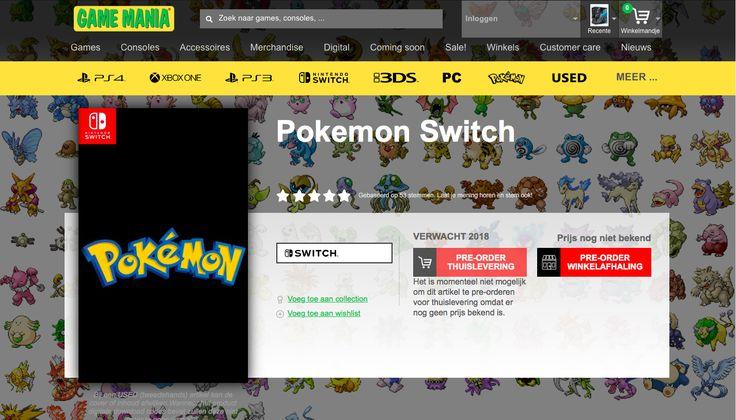 New Pokemon game for nintendo switch?