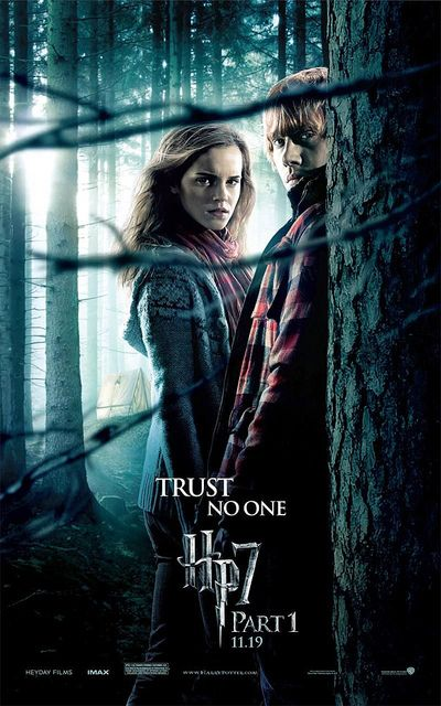 """Harry Potter 7 part 1 - just because I like this poster. """"That's life, I suppose..."""""""