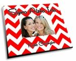 """The Sigma Alpha Iota Chevron Picture Frame! These adorable sorority picture frames come in vibrant full color and has your sorority name popping off the frame with vividness.  Each sorority picture frame measures 8""""x10"""" and fits 4x6 photos. Price: $22.95 plus shipping"""