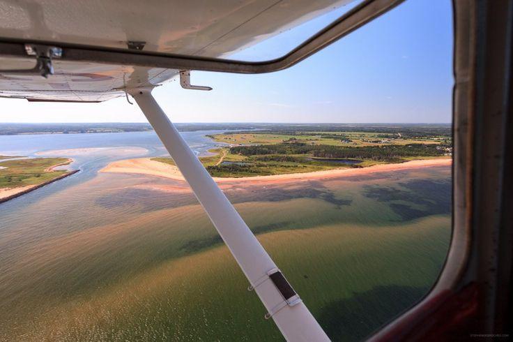 Flying over PEI