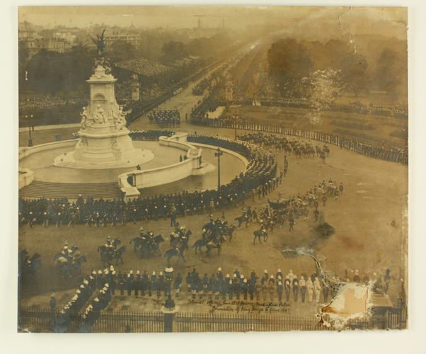 Photograph - Colonial Officers Guard of Honour, Buckingham Palace, Coronation of…