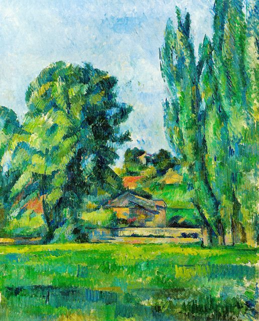 Paul Cézanne - Landscape with Poplars, 1887 at the National Gallery London England
