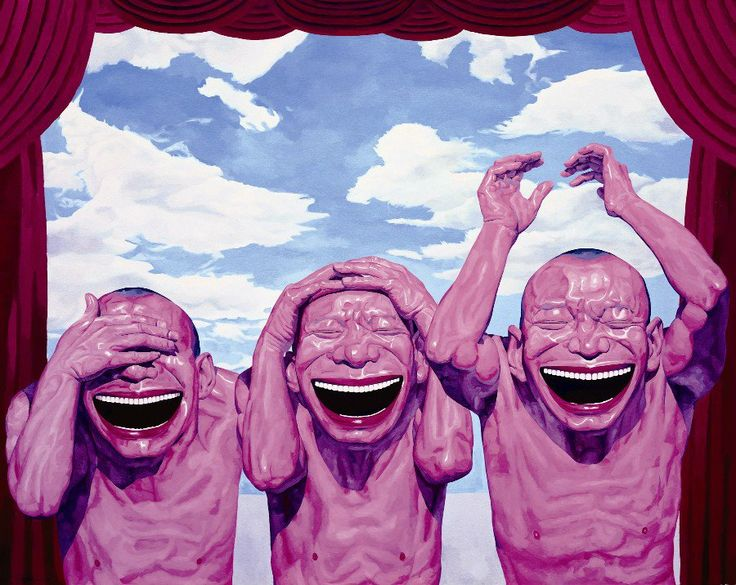 Obra de Yue Minjun, del Realismo Cínico Chino