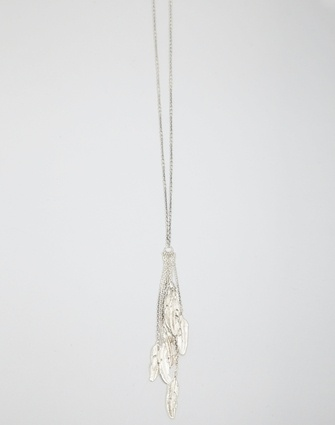 Long Multi Feather Necklace - Jewellery - Storm
