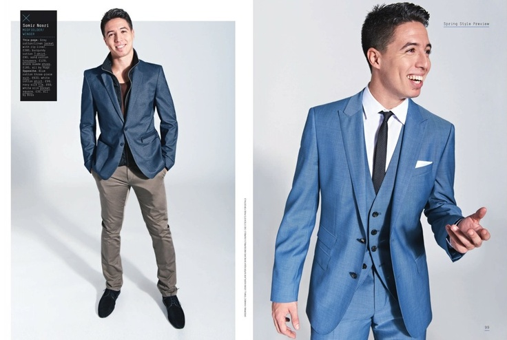 Samir Nasri in light blue three-piece suit | The Professional You
