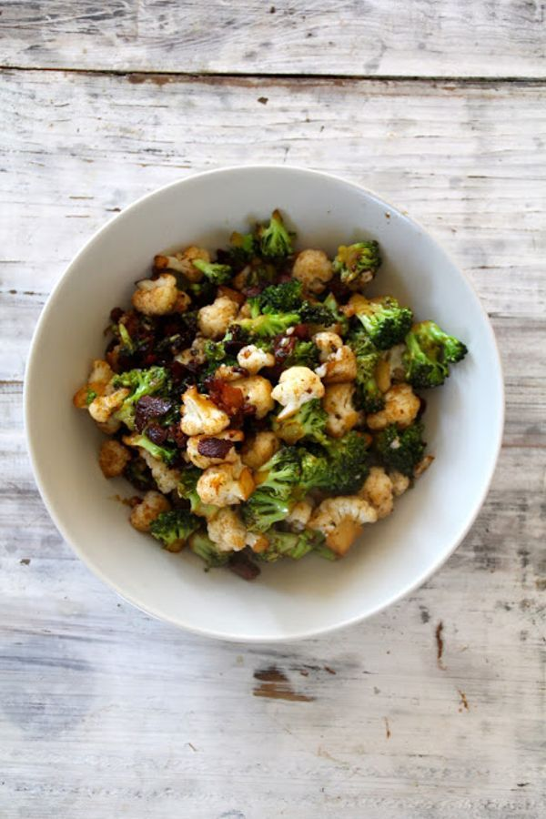 Mat På Bordet | Brokkoli, blomkål og bacon med balsamico