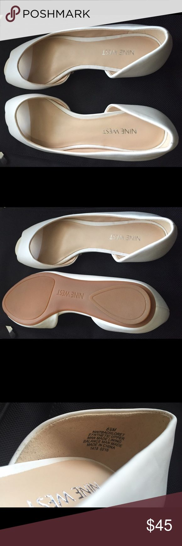 Nine West Women's Ballet Flat (US Size 6.5) condition: New Brand: Nine West Fastening: Slip On	 Style: Slides Heel Height: Flat (0 to 1/2 in.)	 US Shoe Size (Women's): 6.5 Country/Region of Manufacture: China	 Width: Medium (B, M) Material:	Leather	 Color: White  Leather Imported Synthetic sole Leather upper Synthetic sole Faux leather lining Cushioned footbed  BRAND NEW & AUTHENTIC ITEM!! Nine West Shoes Flats & Loafers