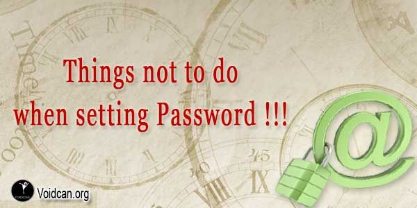 Voidcan.org shares with you things which should be taken care before setting online password.