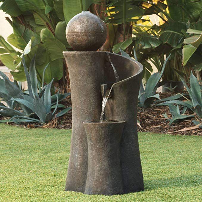Amazon Com John Timberland Modern Sphere Zen Outdoor Water