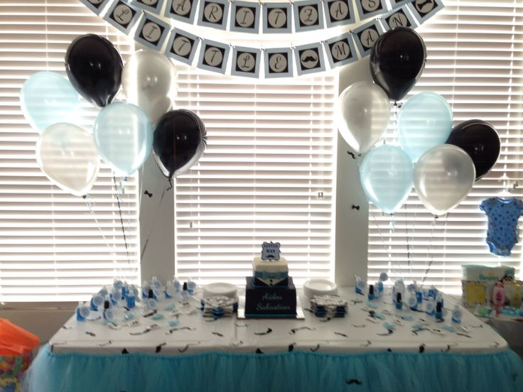 Mustache And Bow Tie Themed Baby Shower