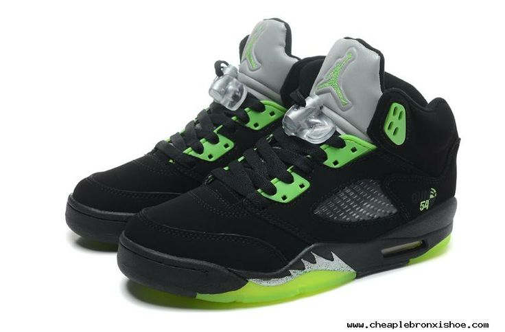 Buy?For Sale Air Jordan 5 Retro Black Green Mens Sneakers
