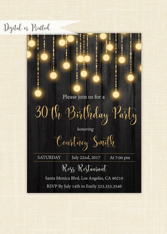 printable 30th birthday,floral wood birthday invitation rustic adult birthday invite 30th birthday Editable birthday invitation template