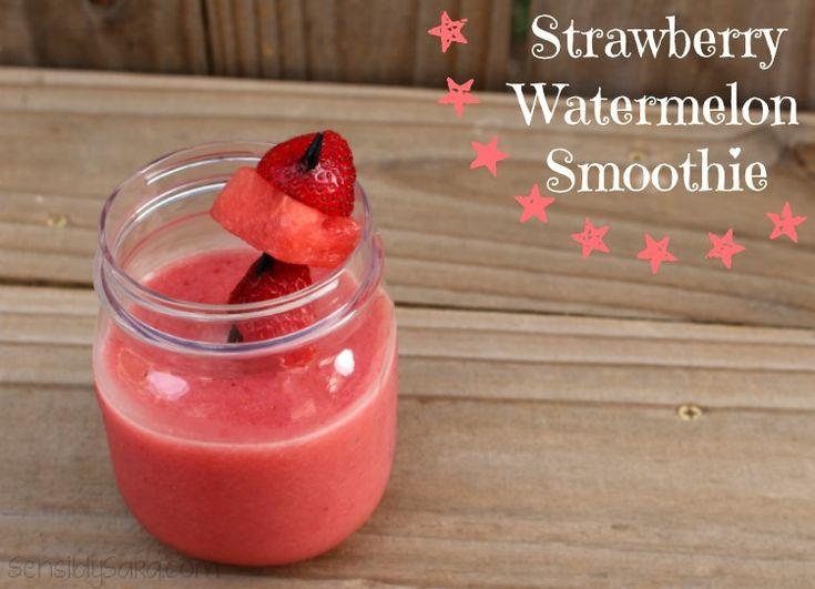 Strawberry Watermelon Smoothie + Good Cook #freshfruitbowl #BBBProduct
