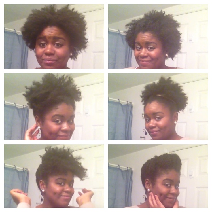 6 Quick (under 2 mins) and Easy Styles for short natural hair !