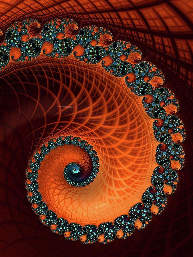Pin by Taja Simonović on Epoxy in 2020 | Fractal art, Spiral art, Colorful  art