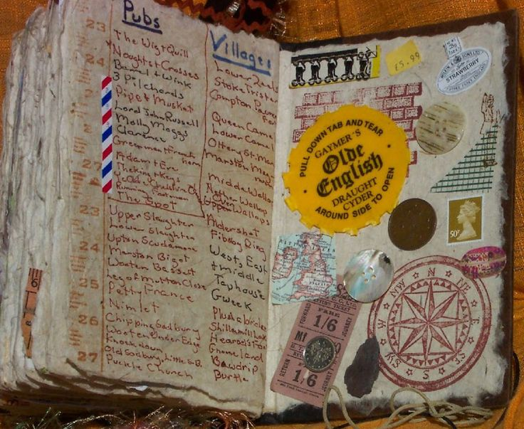 Travel Journal. I love this idea. I collect most of my maps, tickets, pamphlets, etc. from all the places I visit. This is a great idea of a way to make them into awesome journals.